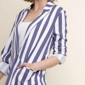 Umgee Denim Striped Blazer